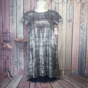 LuLaRoe Elegant Carly Dress Metallic Small NWT G46